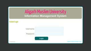 Student Login | Aligarh Muslim University
