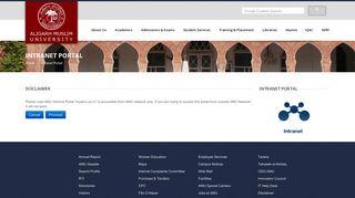 Aligarh Muslim University || Intranet Portal