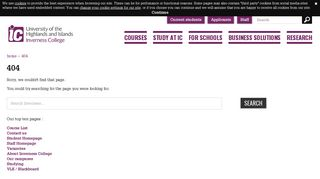 Study at IC - Apply - Inverness College UHI - University of the ...