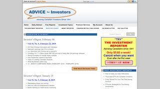 Investors Digest Archive - Advice for Investors   Advice for Investors