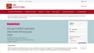 CIBC Investor's Edge: Online and Mobile Trading