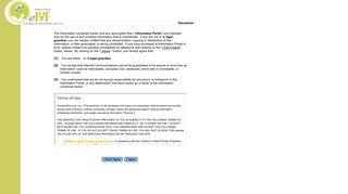 eIVF Patient Portal - Disclaimer