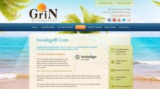 Invisalign® Costs - Etobicoke ON   Grin Orthodontics