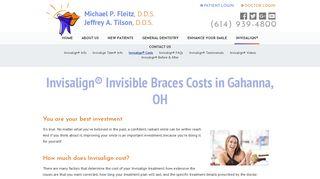 Invisalign® Costs   Gahanna OH Dentist  Michael P. Fleitz, DDS, Inc.