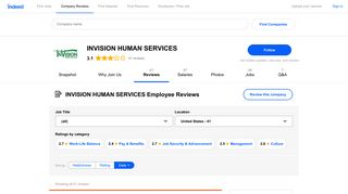 Working at INVISION HUMAN SERVICES: Employee Reviews ...