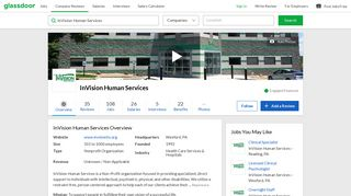 Working at InVision Human Services   Glassdoor