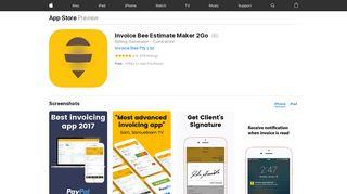 Invoice Bee Estimate Maker 2Go on the App Store - iTunes - Apple