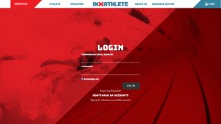 InXAthlete   Login Portal for Employers and Student Athletes
