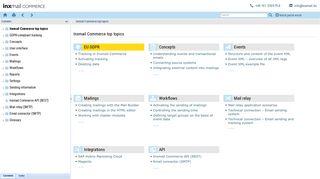Inxmail Commerce online help Inxmail Commerce Onlinehilfe
