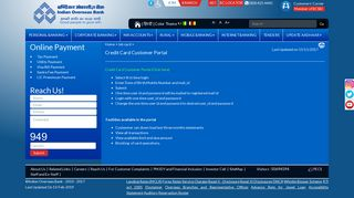 Credit Card Customer Portal - Welcome to Indian Overseas Bank