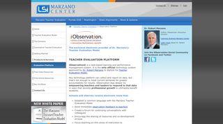 iObservation Teacher Evaluation Platform - Marzano Teacher Evaluation