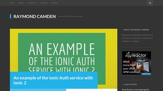 An example of the Ionic Auth service with Ionic 2 - Raymond Camden
