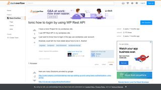 Ionic how to login by using WP Rest API - Stack Overflow
