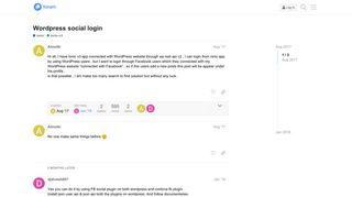 Wordpress social login - ionic-v3 - Ionic