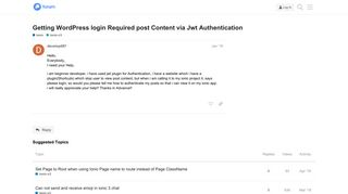 Getting WordPress login Required post Content via Jwt ...