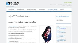 MyIOT Student Web | Online Student Resources – Student Support ...