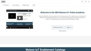Watson IoT Academy