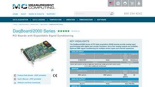 16-Bit, 200 kHz PCI Data Acquisition DaqBoards - Measurement ...