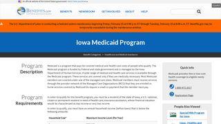 Iowa Medicaid Program   Benefits.gov