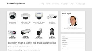Insecure by Design: IP cameras with default login credentials ...