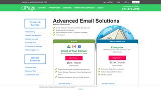 Advanced Email Solutions - Email Hosting - iPage