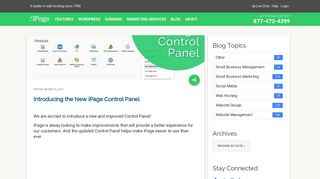 Introducing the New iPage Control Panel – iPage Blog