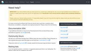 Roundcube Webmail Support