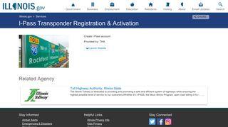 I-Pass Transponder Registration & Activation - Illinois.gov