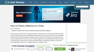 How to Check a Balance on I-Pass | It Still Works