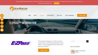 E-ZPASS SM Information - ITR Concession Co. LLC. - Indiana Toll Road