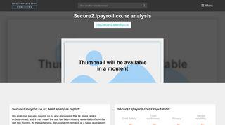 Secure 2 IPayroll. Login | Payroll Service New Zealand - iPayroll ®