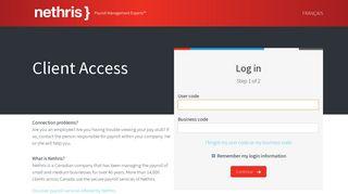 Nethris Internet Suite - Nethris Online Payroll Login Page