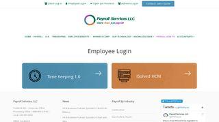 Employee Login - Payroll Services LLC