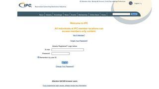 IPC Logon - IPC--Association Connecting Electronics Industries