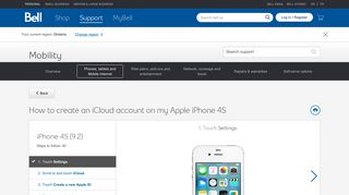 How to create an iCloud account on my Apple iPhone 4S - Bell support