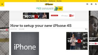 How to setup your new iPhone 4S | iMore