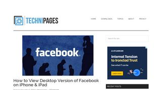 iPhone/iPad: View Full Version of Facebook - Technipages