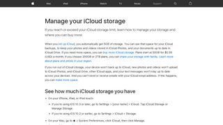 Manage your iCloud storage - Apple Support