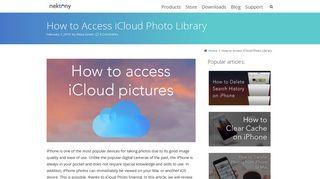How to access iCloud photo library   Nektony Blog