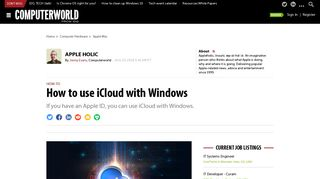 How to use iCloud with Windows   Computerworld