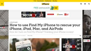 How to use Find My iPhone to rescue your iPhone, iPad, Mac, and ...