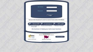 IPI - Customer Site Login - Information Providers, Inc.