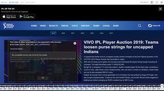 IPLT20.com - Indian Premier League Auction 2018
