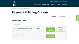 Payment and Billing Options   Indianapolis Power & Light Company