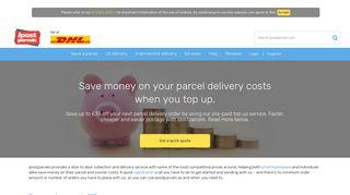 Parcel Delivery Top Up Account   Top Up & Save   ipostparcels