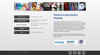 Ipsos Mystery Shopping