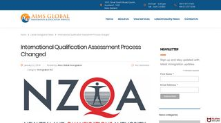 International Qualification Assessment Process Changed   Aims ...