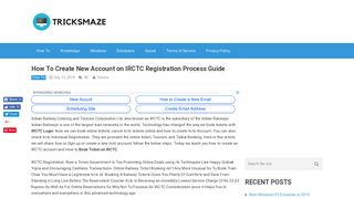 How To Create New Account on IRCTC Registration Process Guide ...