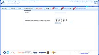 Forgot Password - IRCTC Next Generation eTicketing System