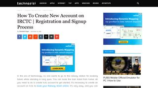 IRCTC: Create New Account | Registration and Signup Process